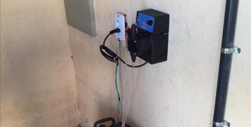 Recitec - Sistema de Tratamento de Água Bruta - Bomba automática dosadora de cloro
